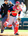 4 March 2010: Washington Nationals' catcher Wil Nieves in action during the Nationals-Astros Grapefruit League Opening game at Osceola County Stadium in Kissimmee, Florida. The Houston Astros defeated the Nationals split-squad 15-5 in Spring Training action. Mandatory Credit: Ed Wolfstein Photo
