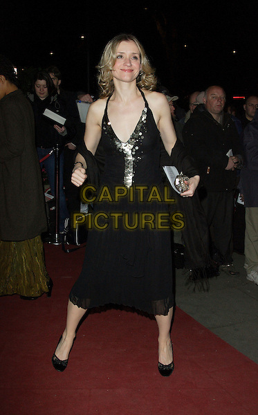 ANNE-MARIE DUFF.Arrivals - Laurence Olivier Awards at the Grosvenor Hotel, Park Lane, London, England, February 18th 2007..full length black dress low cut sequined wrap anne marie.CAP/ROS.©Steve Ross/Capital Pictures.
