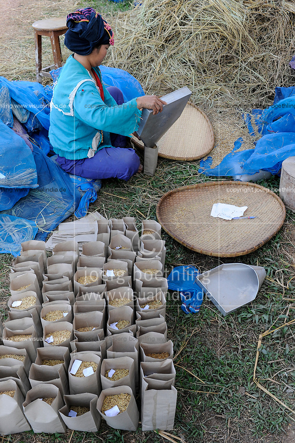 Lao PDR, rice research institute, seed selection for crossing of new rice varities and hybrids