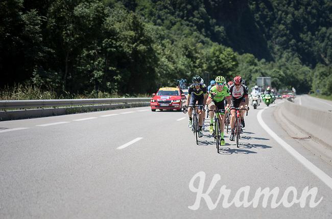 Simon Clarke (AUS/Cannondale-Drapac) leading the breakaway group<br /> <br /> stage 7: Aoste &gt; Alpe d'Huez (168km)<br /> 69th Crit&eacute;rium du Dauphin&eacute; 2017