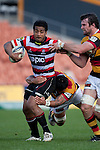 Reynold Lee-Lo gets taken by Waikato defenders. ITM Cup rugby game between Waikato and Counties Manukau, played at Waikato Stadium, Hamilton on Saturday 28th August 2010..Waikato won 39 - 3.