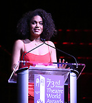 Barrett Doss on stage at the 73rd Annual Theatre World Awards at The Imperial Theatre on June 5, 2017 in New York City.