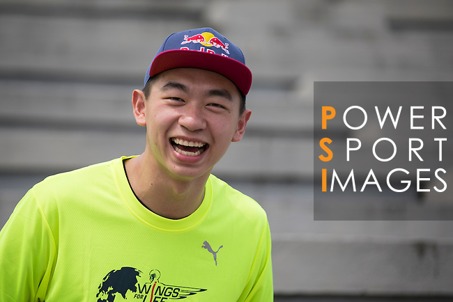 Red Bull Athletes Chiao Cheng poses for a photograph during the Wings for Life World Run on 08 May, 2016 in Yilan, Taiwan. Photo by Victor Fraile / Power Sport Images