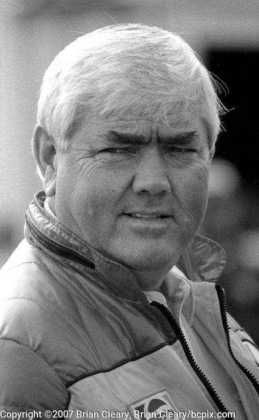 NASCAR legend Junior Johnson, Atlanta Journal 500 at Atlanta International Raceway in Hampton, GA on November 6, 1983. (Photo by Brian Cleary/www.bcpix.com)