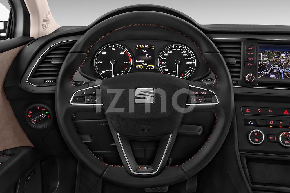 Car pictures of steering wheel view of a 2015 Seat Leon Style Copa 4 Door Hatchback Steering Wheel