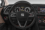 Car pictures of steering wheel view of a 2015 Seat Leon Style Copa 4 Door Hatchback Steering Wheel