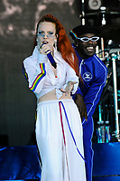 BRIGHTON, ENGLAND - AUGUST 5: Jess Glynne performing at Brighton and Hove Pride, Preston Park on August 5, 2018 in London, England.<br /> CAP/MAR<br /> &copy;MAR/Capital Pictures