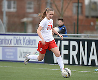 20140208 - OOSTAKKER , BELGIUM : Polish Weronika Aszkielowicz pictured during a friendly soccer match between the women teams of Belgium and Poland , Saturday 8 February 2014 in Oostakker. PHOTO DAVID CATRY