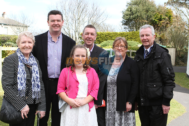 Ciara Deegan with some of her family at the Confirmation in Laytown Church...Photo NEWSFILE/Jenny Matthews.