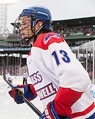 Adam Chapie (UML - 13) - The Northeastern University Huskies defeated the University of Massachusetts Lowell River Hawks 4-1 (EN) on Saturday, January 11, 2014, at Fenway Park in Boston, Massachusetts.