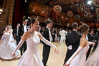 0802020298c Dress rehearsal of the 13th Budapest Opera Ball held at Opera House involving 50 couples of debutantes performing the opening waltz. Budapest, Hungary. Saturday, 02. February 2008. ATTILA VOLGYI