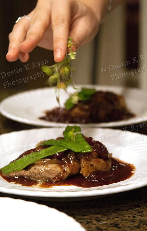 Chicken Dinner Plate garnish hand food