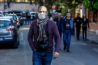 A man wearing a mask to protect himself from the Covid-19 arrives to attend the penitential procession on Ash Wednesday, led from the Pope to open Lent in Rome, February 26, 2020.<br /> UPDATE IMAGES PRESS/Riccardo De Luca