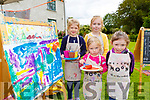 Painting at the Cruinniú na nÓg  Pop up Process art workshop in Killarney House on Saturday were l-r: Leslie Brunner, Lauren, Béibhinn and Dearbhla Kiely,