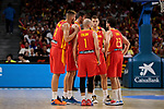 Players of Spain during the Friendly match between Spain and Dominican Republic at WiZink Center in Madrid, Spain. August 22, 2019. (ALTERPHOTOS/A. Perez Meca)