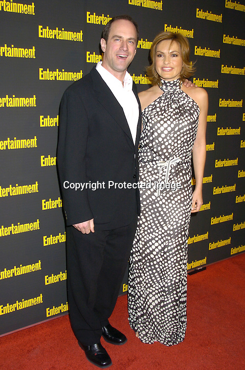 Mariska Hargitay and Christopher Meloni  ..at the 11th Annual Entertainment Weekly Oscar Party on ..Februaty 27, 2005 at Elaine's in New York City. ..Photo by Robin Platzer, Twin Images