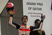 18th March 2018, Losail International Circuit, Lusail, Qatar; Qatar Motorcycle Grand Prix, Sunday race day; Marc Marquez (Repsol Honda) 2nd in the race