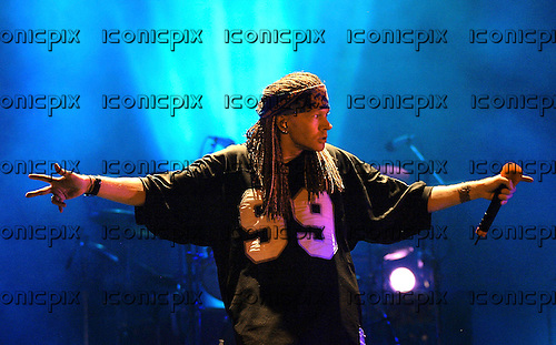 GUNS N' ROSES - AXL Rose - performing live in concert at Chiba Marine Stadium in Chiba Japan - 17 August 2002.  Photo credit: George Chin/IconicPix