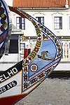 Artwork on Moliceiro Boats Aveiro, Portugal