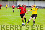 In Action Dynamos Jeanatte Dzena and Cork's Jennifer White at the Munster Women's Cup Tralee Dynamos  V  Rivertown Cork  in Cahermoneen on Saturday