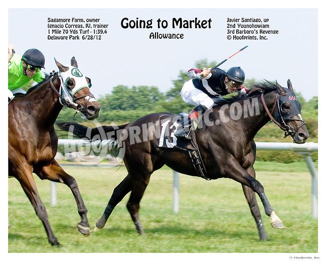 Going to Market winning Delaware Park on 6/28/12