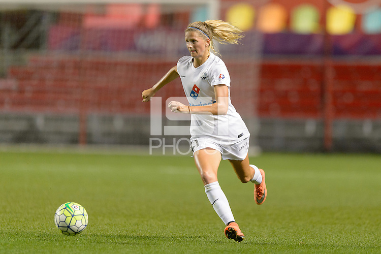 Chicago, IL - Wednesday Sept. 07, 2016: Katie Bowen during a regular season National Women's Soccer League (NWSL) match between the Chicago Red Stars and FC Kansas City at Toyota Park.