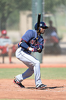Cleveland Indians outfielder Levon Washington (7) during an instructional league game against the Cincinnati Reds on September 28, 2013 at Goodyear Training Complex in Goodyear, Arizona.  (Mike Janes/Four Seam Images)