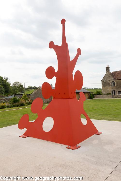 Hauser and Wirth art gallery, restaurant and garden, Durslade Farm, Bruton, Somerset, England, UK 'Knobs' sculpture Alexander Calder 1976