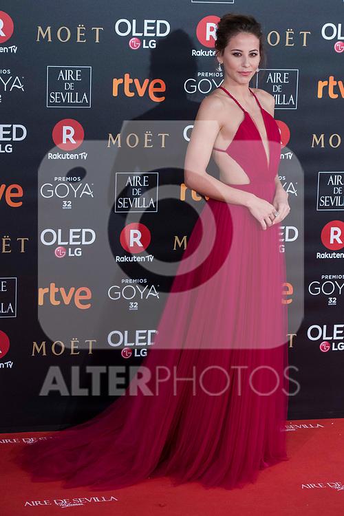 Irene Escolar attends red carpet of Goya Cinema Awards 2018 at Madrid Marriott Auditorium in Madrid , Spain. February 03, 2018. (ALTERPHOTOS/Borja B.Hojas)