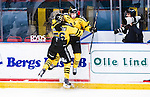 Stockholm 2014-11-16 Ishockey Hockeyallsvenskan AIK - IF Bj&ouml;rkl&ouml;ven :  <br /> AIK:s David Lilliestr&ouml;m Karlsson firar sitt 2-1 m&aring;l med Dennis Nordstr&ouml;m under matchen mellan AIK och IF Bj&ouml;rkl&ouml;ven <br /> (Foto: Kenta J&ouml;nsson) Nyckelord:  AIK Gnaget Hockeyallsvenskan Allsvenskan Hovet Johanneshov Isstadion Bj&ouml;rkl&ouml;ven L&ouml;ven IFB jubel gl&auml;dje lycka glad happy