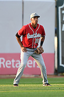 Great Lakes Loons outfielder Alex Santana (21) during a game against the West Michigan Whitecaps on June 4, 2014 at Fifth Third Ballpark in Comstock Park, Michigan.  West Michigan defeated Great Lakes 4-1.  (Mike Janes/Four Seam Images)