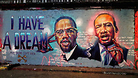 Examples of Black Lives Matter related Street Art at the famous Leake Street Tunnel, Waterloo. London, UK June 12th 2020<br /> <br /> Photo by Keith Mayhew