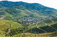 Germany, Baden-Wurttemberg, Black Forest, Durbach: wine village | Deutschland, Baden-Wuerttemberg, Schwarzwald, Durbach im Ortenaukreis: Weindorf eingebettet von Weinbergen