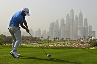 Kurt Kitayama (USA) on the 8th tee during Round 1 of the Omega Dubai Desert Classic, Emirates Golf Club, Dubai,  United Arab Emirates. 24/01/2019<br /> Picture: Golffile | Thos Caffrey<br /> <br /> <br /> All photo usage must carry mandatory copyright credit (&copy; Golffile | Thos Caffrey)