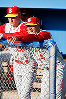 August 5, 2009:  Coach Joel Fuentes of the Brooklyn Cyclones during a game at Dwyer Stadium in Batavia, NY.  The Cyclones are the Short-Season Class-A affiliate of the New York Mets.  Photo By Mike Janes/Four Seam Images