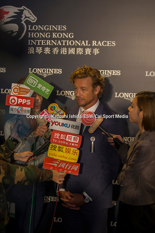 DEC 13,2015: Hollywood star,Simon baker ;Track scene at Sha Tin in New Territories,Hong Kong. Kazushi Ishida/ESW/CSM