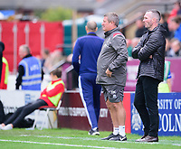 Lincoln City's assistant manager David Kerslake, left, and Lincoln City manager Michael Appleton in the technical area<br /> <br /> Photographer Andrew Vaughan/CameraSport<br /> <br /> The EFL Sky Bet League One - Lincoln City v Sunderland - Saturday 5th October 2019 - Sincil Bank - Lincoln<br /> <br /> World Copyright © 2019 CameraSport. All rights reserved. 43 Linden Ave. Countesthorpe. Leicester. England. LE8 5PG - Tel: +44 (0) 116 277 4147 - admin@camerasport.com - www.camerasport.com