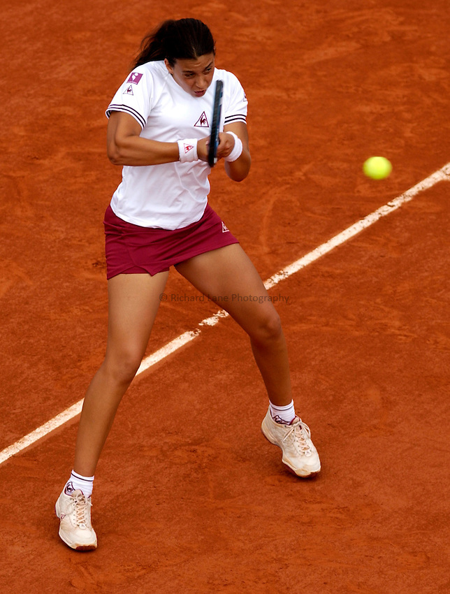 Photo. Jed Wee..French Open Tennis Championships, Roland Garros, Paris, France. 29/05/2003..Marion Bartoli.
