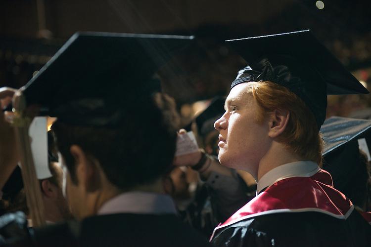 Ryan Bush at undegraduate commencement. Photo by Ben Siegel