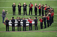 ATHENS, GA - SEPTEMBER 21: Georgia Band performs prior to the game during a game between Notre Dame Fighting Irish and University of Georgia Bulldogs at Sanford Stadium on September 21, 2019 in Athens, Georgia.