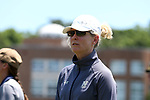 CHAPEL HILL, NC - MAY 20: Navy head coach Cindy Timchal. The University of North Carolina Tar Heels hosted the U.S. Naval Academy Midshipmen on May 20, 2017, at Fetzer Field in Chapel Hill, NC in an NCAA Women's Lacrosse Tournament Quarterfinal match. Navy won the game 16-14.