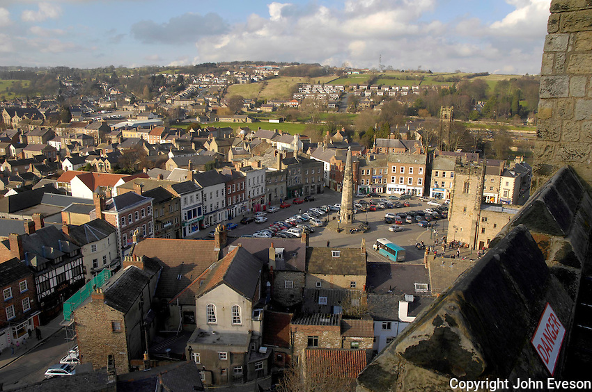 Richmond, North Yorkshire taken from Richmond Castle.