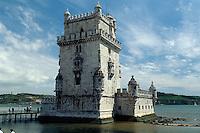 Portugal, Turm von Belem in Lissabon, Unesco-Weltkulturerbe