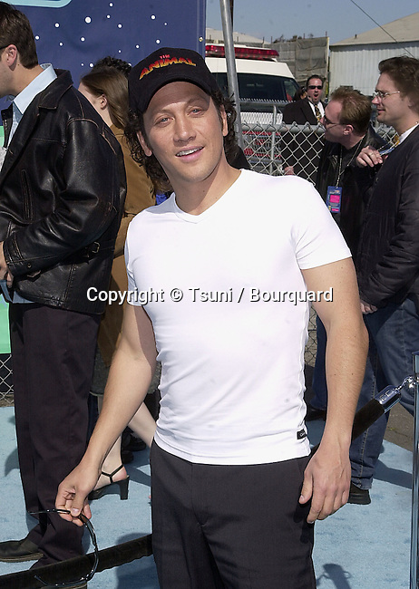 Rob Schneider arriving at The 14th Annual Kids Choice Awards from NickelOdeon at the Barker Hangar in Santa Monica, Los Angeles  4/21/2001  © Tsuni          -            SchneiderRob05A.jpg