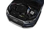 Car stock 2018 Audi allroad Premium 5 Door Wagon engine high angle detail view
