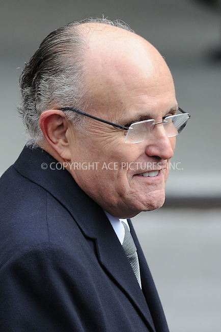 WWW.ACEPIXS.COM . . . . . .February 4, 2013...New York City....Rudy Giuliani following funeral services at Manhattan's Temple Emanu-El on February 4, 2013 in New York City.....Please byline: KRISTIN CALLAHAN - WWW.ACEPIXS.COM.. . . . . . ..Ace Pictures, Inc: ..tel: (212) 243 8787 or (646) 769 0430..e-mail: info@acepixs.com..web: http://www.acepixs.com .