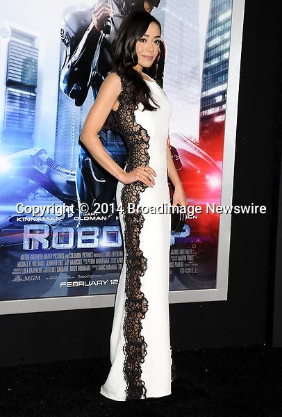 Pictured: Aimee Garcia<br /> Mandatory Credit &copy; Gilbert Flores/Broadimage<br /> RoboCop - Los Angeles Premiere<br /> <br /> 2/10/14, Hollywood, California, United States of America<br /> <br /> Broadimage Newswire<br /> Los Angeles 1+  (310) 301-1027<br /> New York      1+  (646) 827-9134<br /> sales@broadimage.com<br /> http://www.broadimage.com