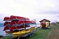 Campbellton, NB, New Brunswick, Canada - Rental Canoes and Kayaks along the Restigouche River