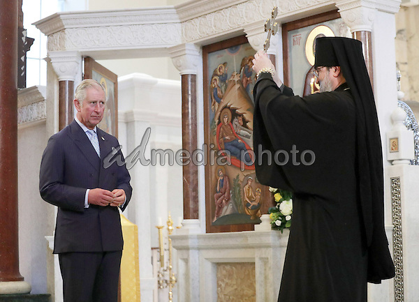 13 December 2016 - London, England - Prince Charles Prince of Wales during a visit to the Russian Orthodox Church's Dormition Cathedral in Knightsbridge, London, where he attended a prayer service and choir concert, viewed the recent restoration works and met church leaders. Photo Credit: Alpha Press/AdMedia