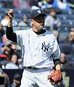 Masahiro Tanaka (Yankees),<br /> APRIL 16, 2014 - MLB : Masahiro Tanaka of the New York Yankees  during the Major League Baseball interleague baseball  doubleheader game against the Chicago Cubs at Yankee Stadium in the Bronx, NY, USA.<br /> (Photo by AFLO)